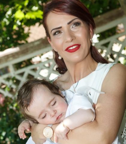 După naștere, Roberta a fost cea mai bună dietă a mamei :)