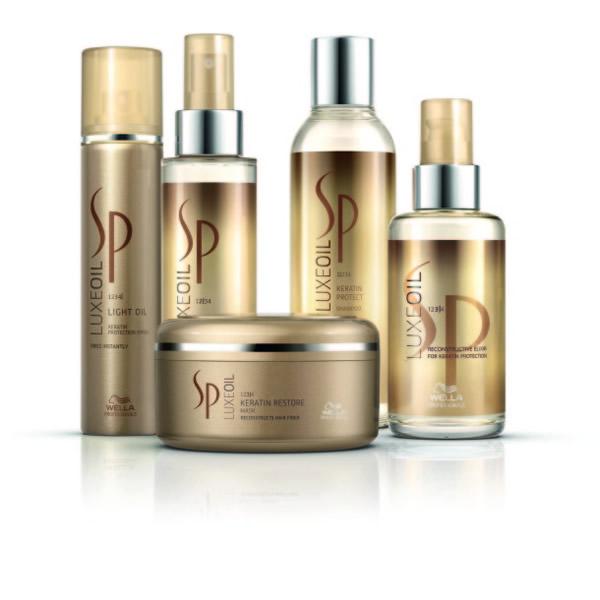Wella SP Luxe Oil Line: Light Oil 81 lei; Keratin Boos Essence 105 lei; Șampon 69 lei; Mască 99 lei, Elixir 105 lei