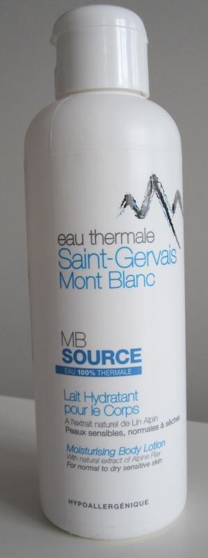 Lapte de corp cu apă termală Saint Gervais Mont Blanc