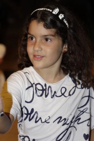 Alessandra, fiica lor în vârstă de 8 ani