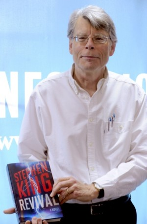 Stephen King signs the copies of his book 'Rivival' at Barnes & Noble Union Square in New York City on November 11, 2014. Photo by Dennis Van Tine / ABACAUSA.COM