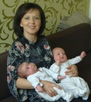 Cu Luca și Isadora, proaspătă mămică