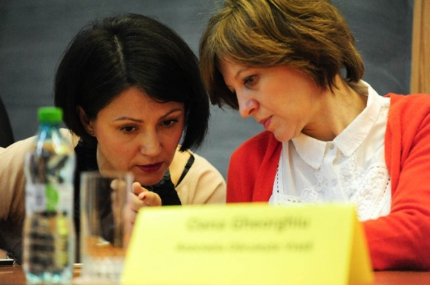 Carmen Uscatu și Oana Gheorghiu, la Spitalul Universitar de Urgență București