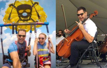 Dragoș Filip violoncelist în orchestrele din Louisiana