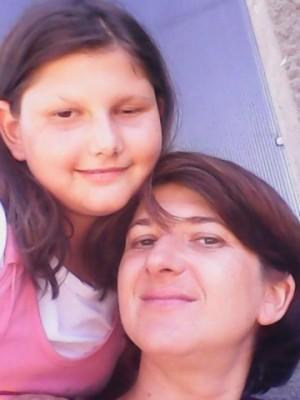 Teodora Ene și fiica ei, Maria Cristina