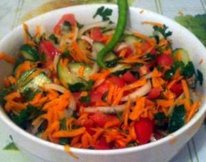 salata lui George din dieta vegană