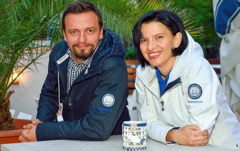 Cu Adrian Poparad, partenerul de afaceri pe mare