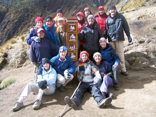 Cu grupul la Trecătoarea Femeii Moarte