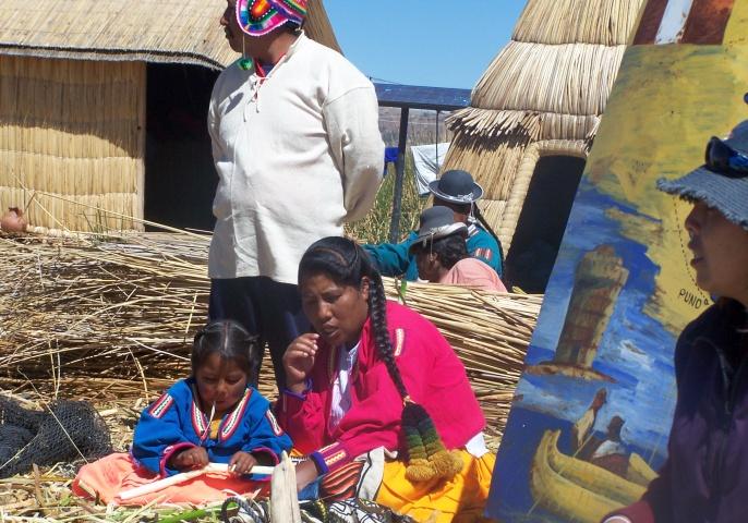 Lacul Titicaca - Indienii Uros