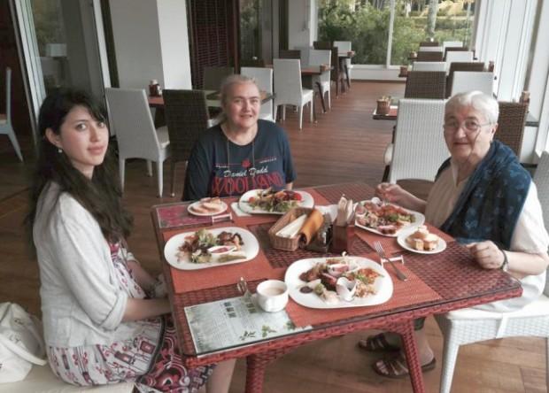 With Mariko Yamane and Cecilia Niste at Renaissance Okinawa Resort