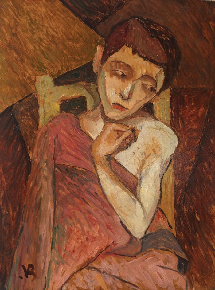 """Licitația de vară Artmark: """"Portret de fată"""", Victor Brauner"""