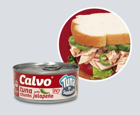 Calvo Tuna for sandw can+circle_JALAPENO