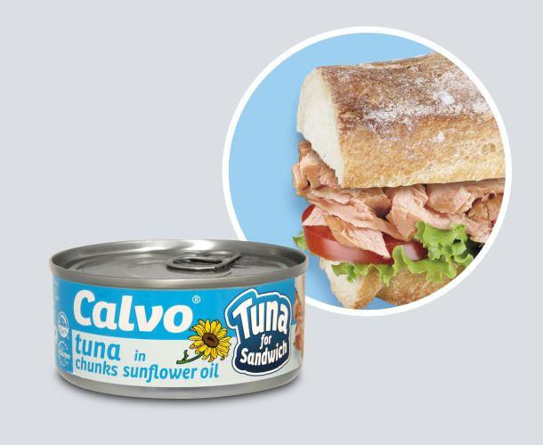 Calvo Tuna for sandw can+circle_SUNFLOWER