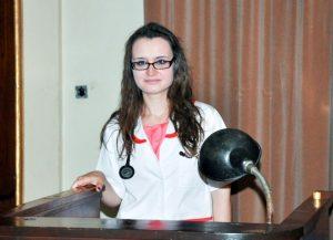 """Nicoleta Fotea, în Amfiteatrul Facultății de Medicină și Farmacie """"Carol Davila"""""""