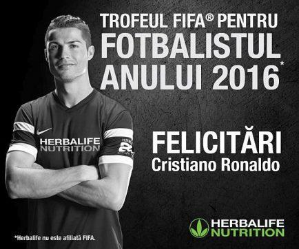 Ronaldo cel mai bun jucator FIFA 2016