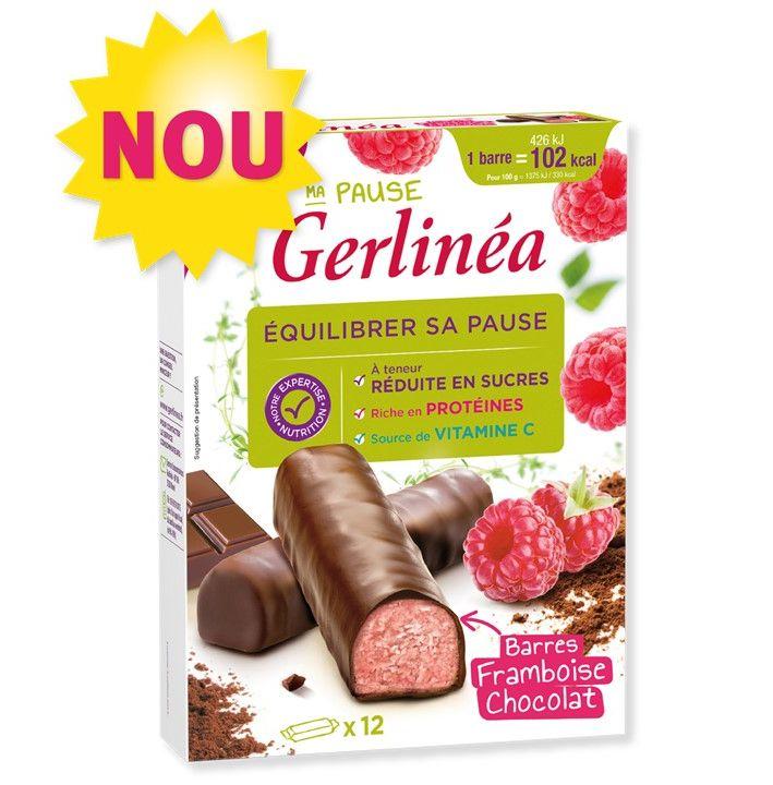 Gerlinéa batoane dietetice cu zmeură și ciocolată neagră