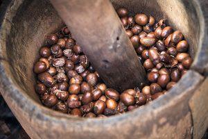 fructele boabe ale unui arbore african, din care se extrage untul de karite
