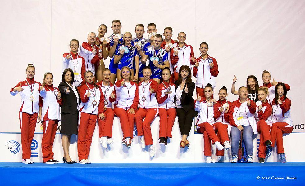 România-campioana europeana la gimnastica aerobica 2017
