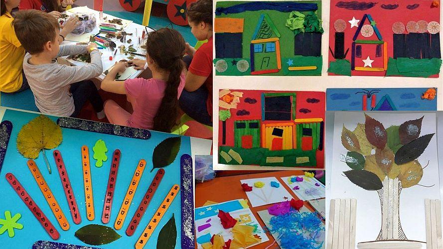 """Copii și creațiile lor la atelierele """"Dăruiește copilărie!"""""""