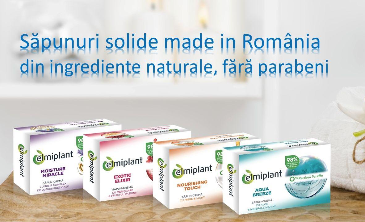 elmiplant lanseaza o gamă de săpunuri solide, din ingrediente naturale, fără parabeni