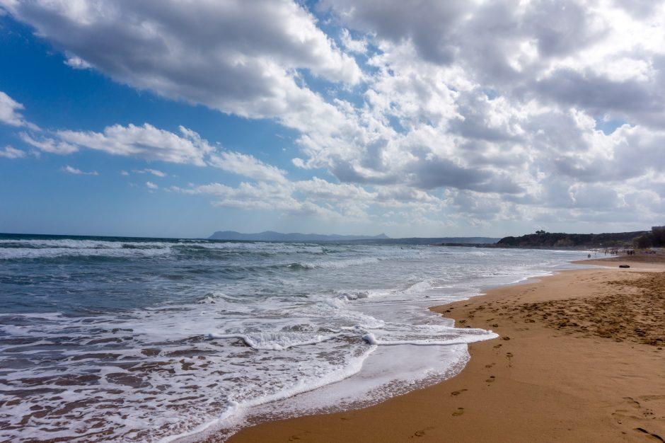 Chania, insula Creta - plaja Stalos - Agia Marina