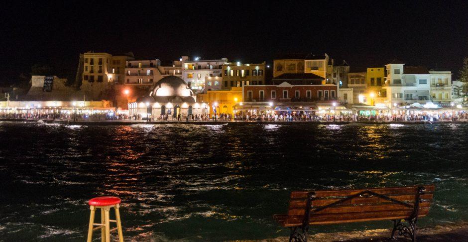 chania orasul vechi noaptea