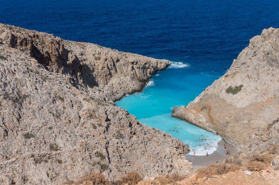 Golful Seitan Limania, insula Creta, Grecia