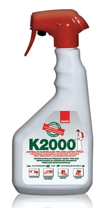 sano K20 distruge gândacii de bucătărie, puricii, căpușele, precum și alte insecte târâtoare