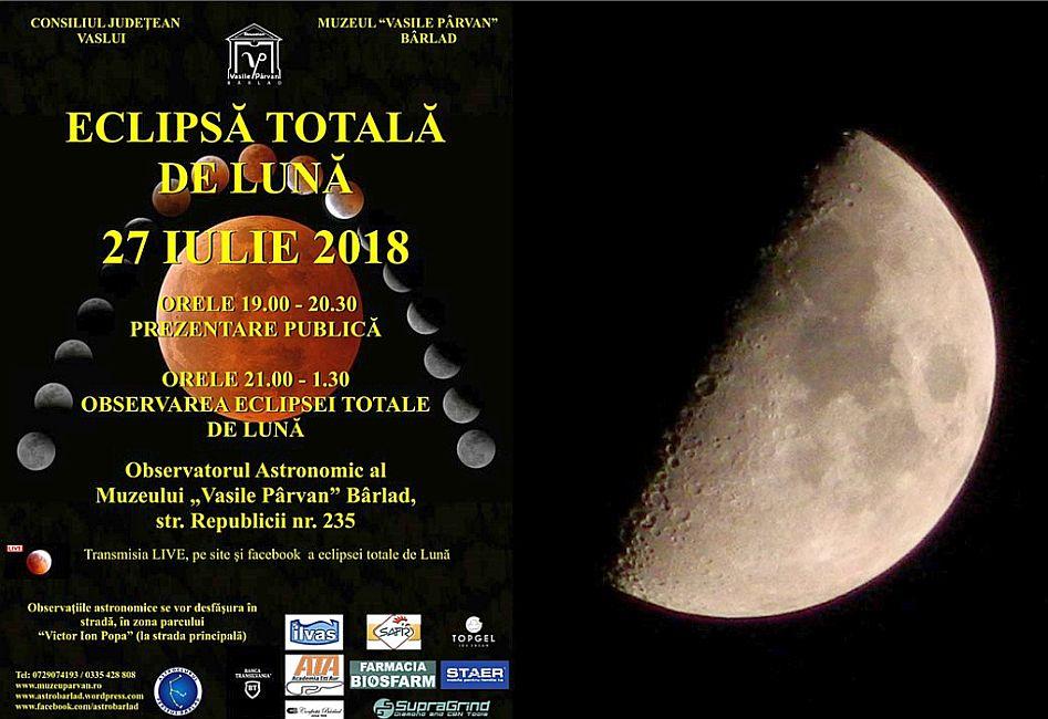 eclipsa totală de Lună 27 iulie 2018 Observatorul din Bârlad