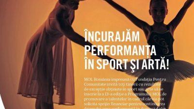 MOL România și Fundația Pentru Comunitate finanțează 526 de tineri sportivi și artiști