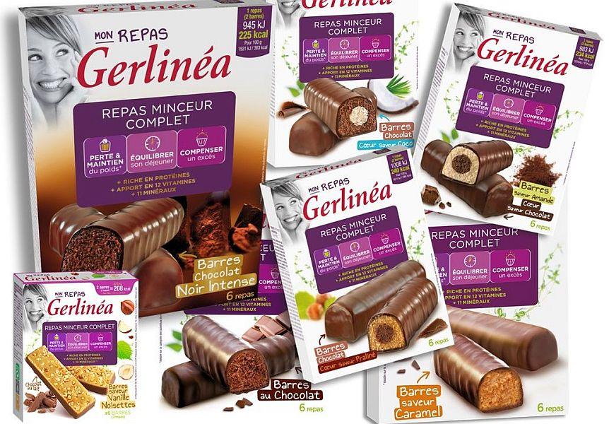 Gerlinea inlocuitori de masa cutii de 2 batoane de ciocolata cu diverse arome