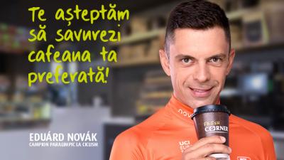 Eduárd Novák este imaginea campaniei Fresh Corner în România