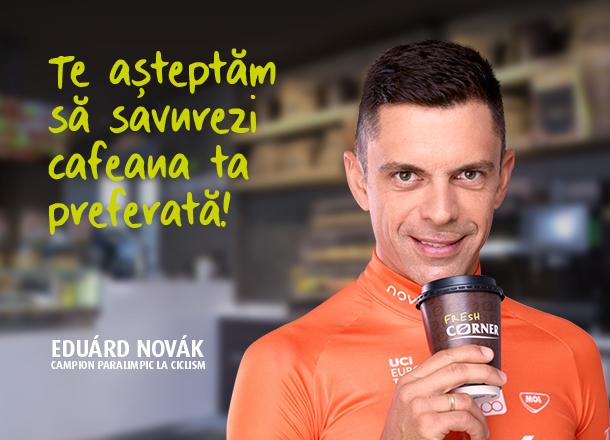 Eduárd Novák este ambasadorul Fresh Corner în România