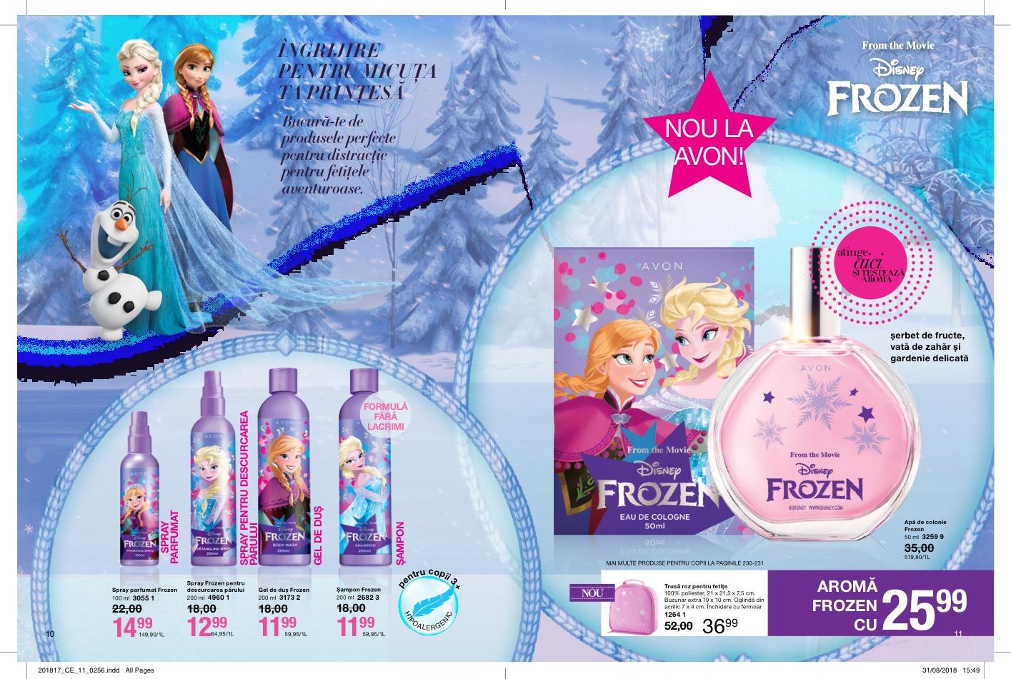 Avon Frozen gama pentru copii