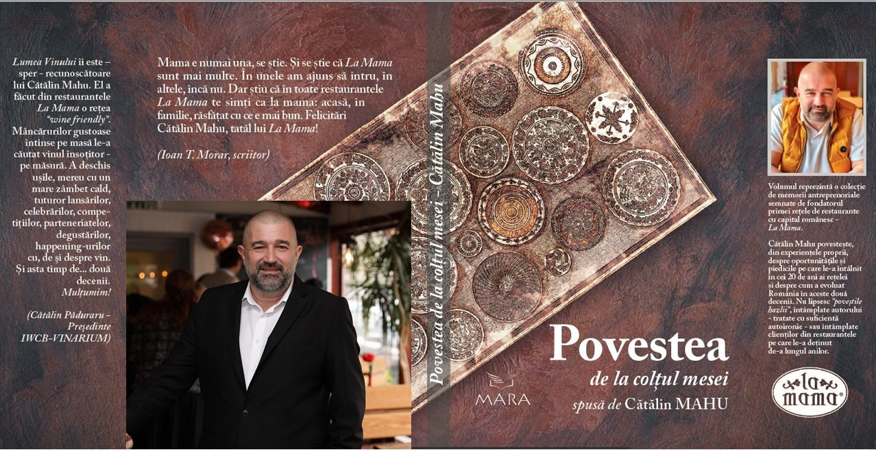 Cătălin Mahu lansează prima carte antreprenorială din Horeca