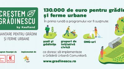 """""""Creștem Grădinescu"""", un program de finanțare a grădinilor și fermelor urbane din România"""