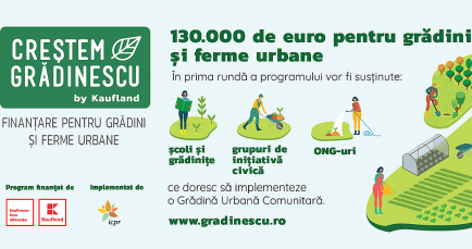 Creștem Grădinescu, program de finanțare a grădinilor și fermelor urbane din Ro