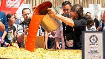 România în Cartea Recordurilor cu cea mai mare porție de paste fără gluten