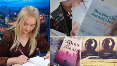 """Corina Ozon, 9 cărți în 5 ani: """"Scrisul e pentru mine ca un drog"""""""