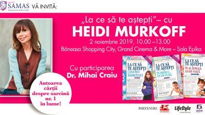 Heidi Murkoff, autoarea celei mai citite cărți despre sarcină și bebeluși, vine în România!