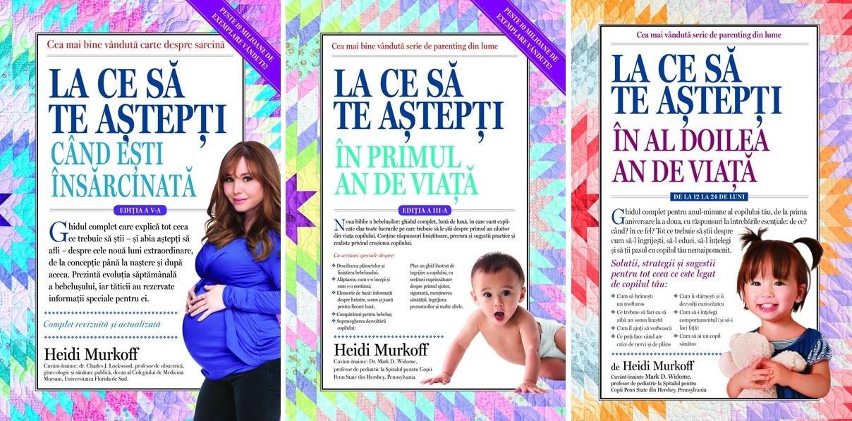 cărțile autoarei Heidi Murkoff, traduse în română