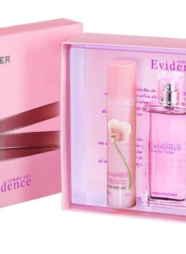Set Comme une Evidence, de la Yves Rocher, 129 lei: apă de parfum (50 ml), Lapte pentru corp și Gel de duș parfumat