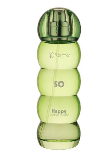 So Happy, apă de toaletă de la Flormar, 43 lei. O combinație delicioasă de măr verde, pară, piersică și pepene verde, cu mijloc de iasomie și o bază lemnoasă de santal, cu note pudrate.