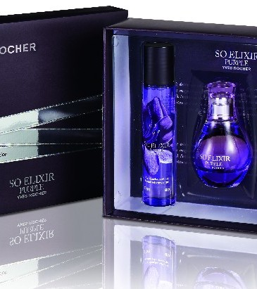 Yves Rocher So Elixir Purple, 129 lei: Apă de parfum (30 ml), Gel de duș și Lapte de corp parfumate