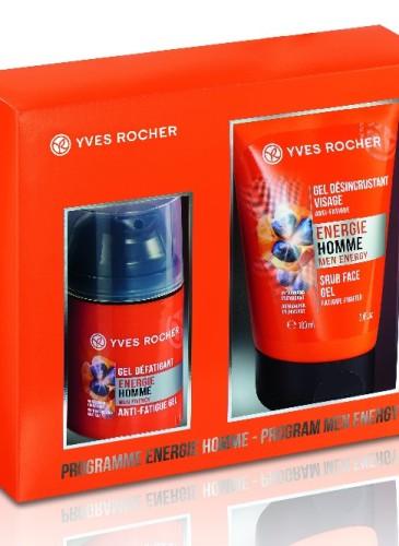 Yves Rocher Energie Homme, 79 lei (Gel pentru revitalizarea tenului și Gel dezicrustant revitalizant)