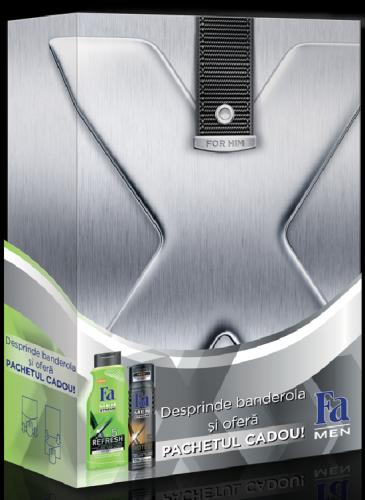 FA Men Xtreme, 19.49 lei (Gel de dus Fa Men Xtreme Re-fresh 5, Deodorant Fa Men Xtreme Protect 5)