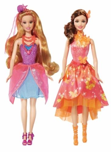 """Sirena Romy si Zana Nory ((filmul """"Barbie și Ușa Secretă""""), 130 lei. Se găsesc în Hypermarketurile Cora, Carrefour, Auchan, Metro, Selgros, în Diverta, Smyk, Varuna, Zooperkids, E-mag și pe elefant.ro."""
