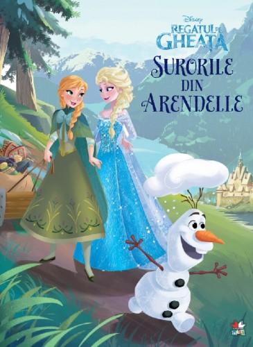 Regatul de gheață, Surorile din Arendelle, carte de povești 39,9lei. Ce sărbătoare poate fi mai frumoasă în Arendelle decât un mare festival al iernii? Mai ales când distracția începe încă din perioada pregătirilor? Însoțește-le pe Anna și pe Elsa în timp ce fac cumpărături pentru festival, culeg brândușe sau se bat cu zăpadă! În cele trei povestiri din această carte vei descoperi tovarăși noi, care abia așteaptă să te invite la joacă!