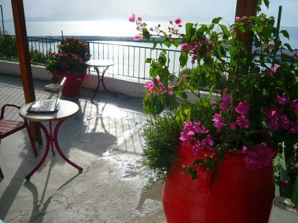 Insula Creta satul Agia Galini vedere la mare