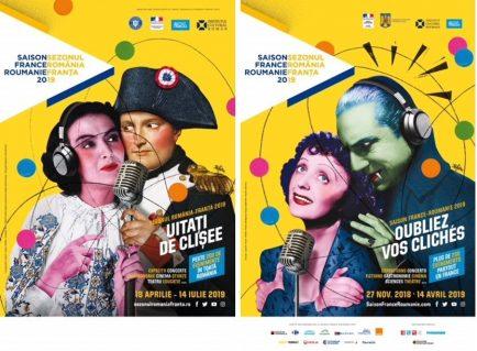 sezonul românia-franța, afișele din cele 2 țări